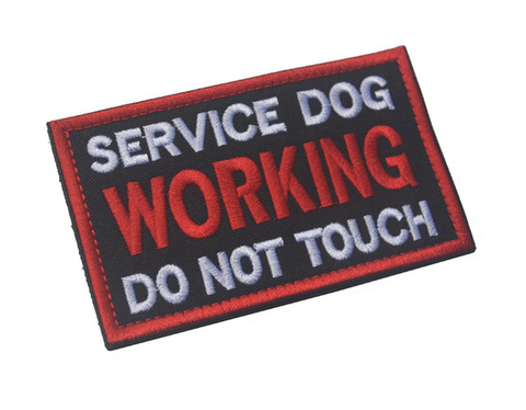 "Image of Service Dog ""Working"" Embroidered Patch"