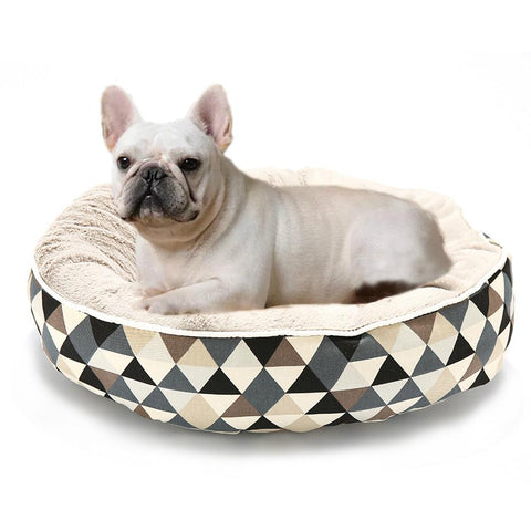 Image of Washable Round Pet Dog Cushion Bed
