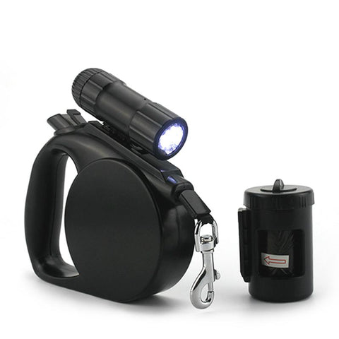 Image of Retractable Dog Leash, LED Light & Clean-up Bag Bundle