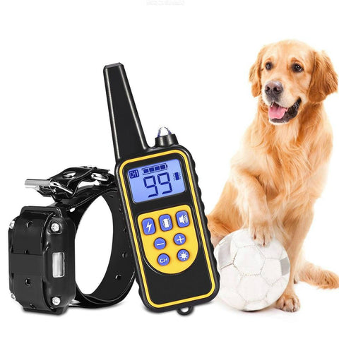 Rechargeable Remote Dog Training Collar with LCD Display