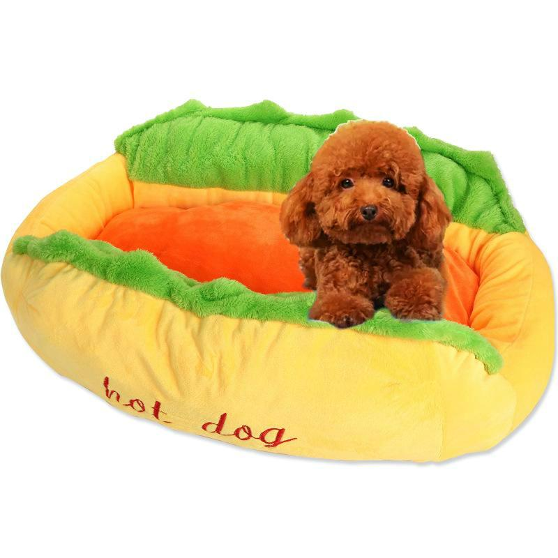 Washable Hot Dog Bed and Pet Sofa