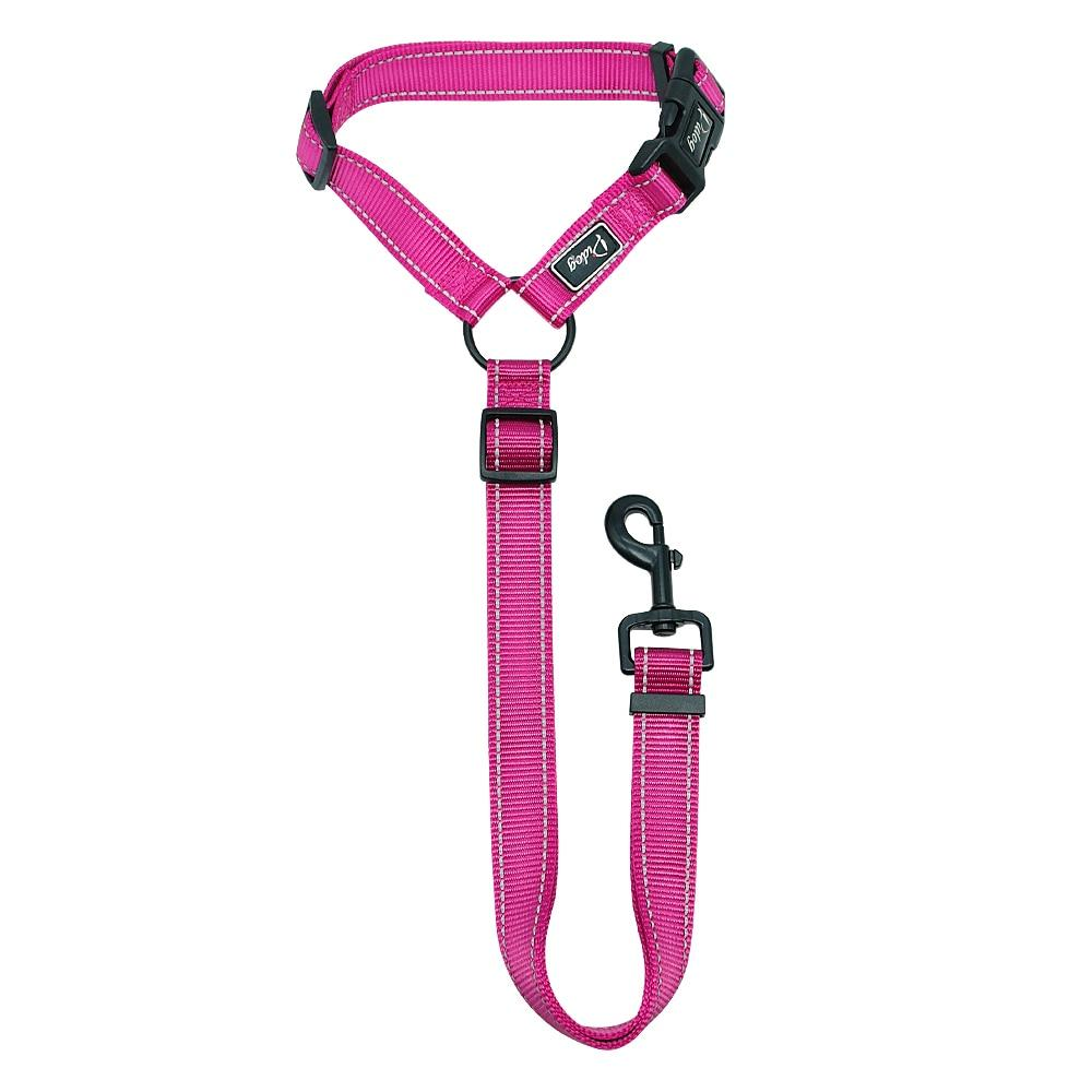 Reflective Nylon Seat Belt Strap & Leash For Dogs