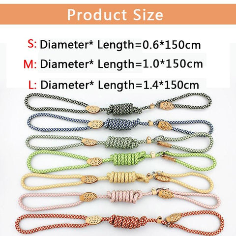 Image of All-In-One Nylon Adjustable Dog Collar/Leash for Small or Large Dogs