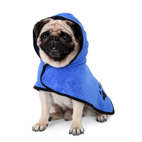 Image of Super Absorbent Pet Dog Bathrobe and Towel