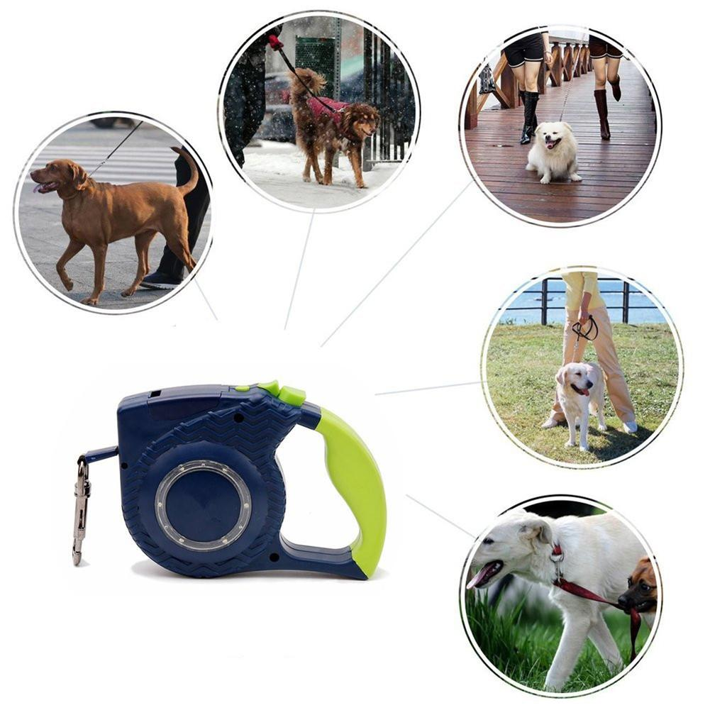 High Visibility LED Nylon Walking Retractable Dog Leash