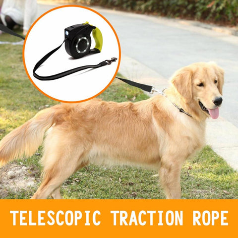 Image of High Visibility LED Nylon Walking Retractable Dog Leash