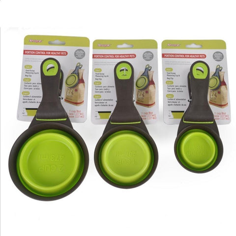 Durable Pet Food Measuring Scoop and Bag Clip