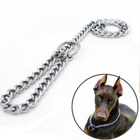 Image of Adjustable Stainless Steel Chain Dog Collar