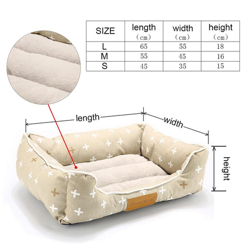 Image of Durable Fleece Cushion Pet Dog Bed
