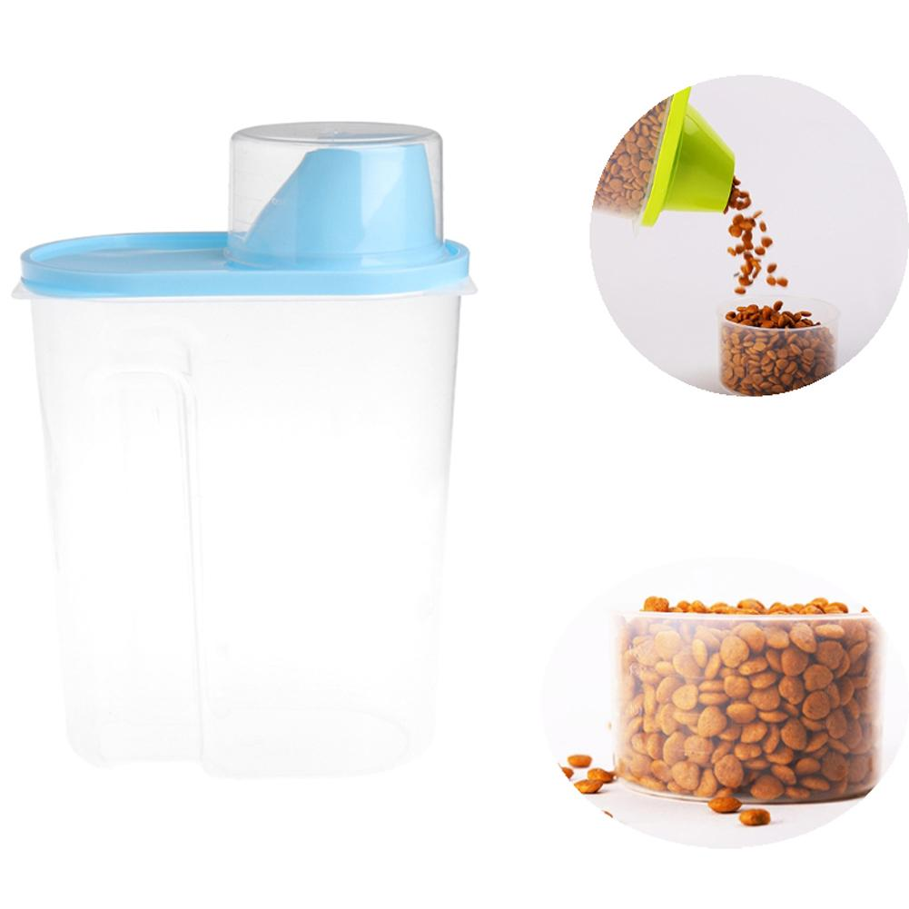 Pet Dog Food Container With Measuring Cup