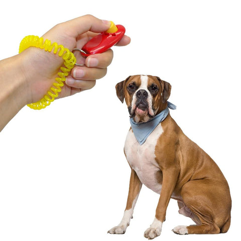 Pet Dog Training Sound Clicker Wrist Strap