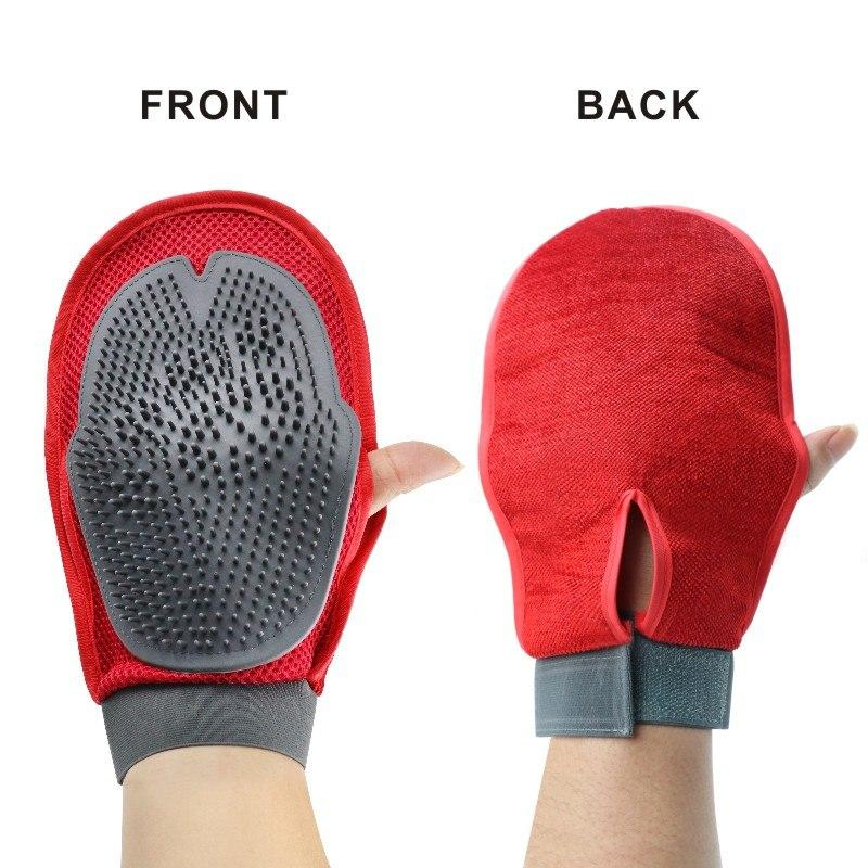 Pet Hair Massage Brush Glove
