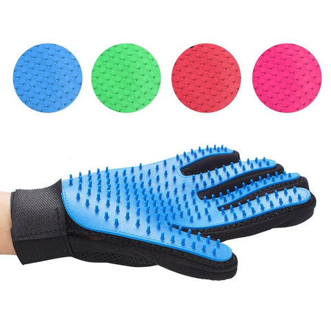 Image of Silicone Pet Deshedding Grooming Gloves