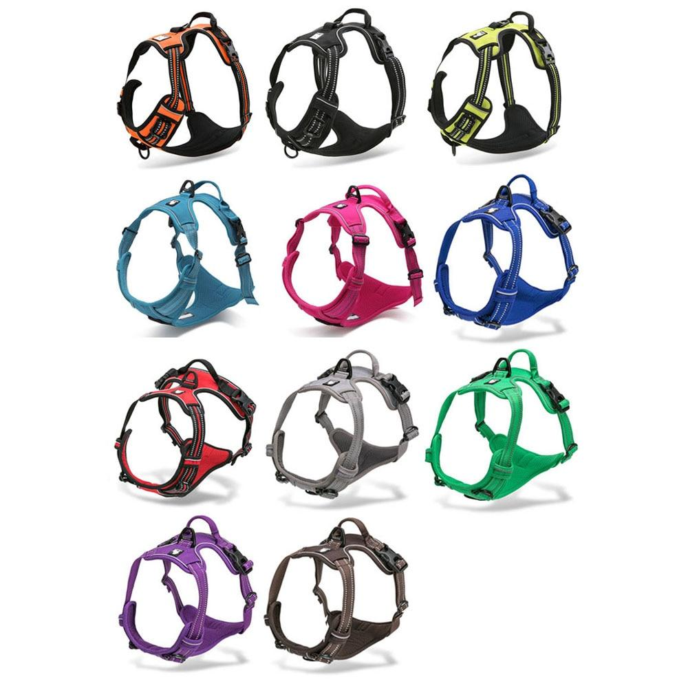 Reflective Padded Nylon Dog Safety Harness