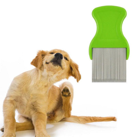 Image of Pets Hair Dirt and Pest Remover Steel Tooth Comb