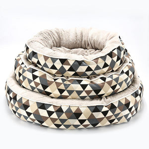 Washable Round Pet Dog Cushion Bed