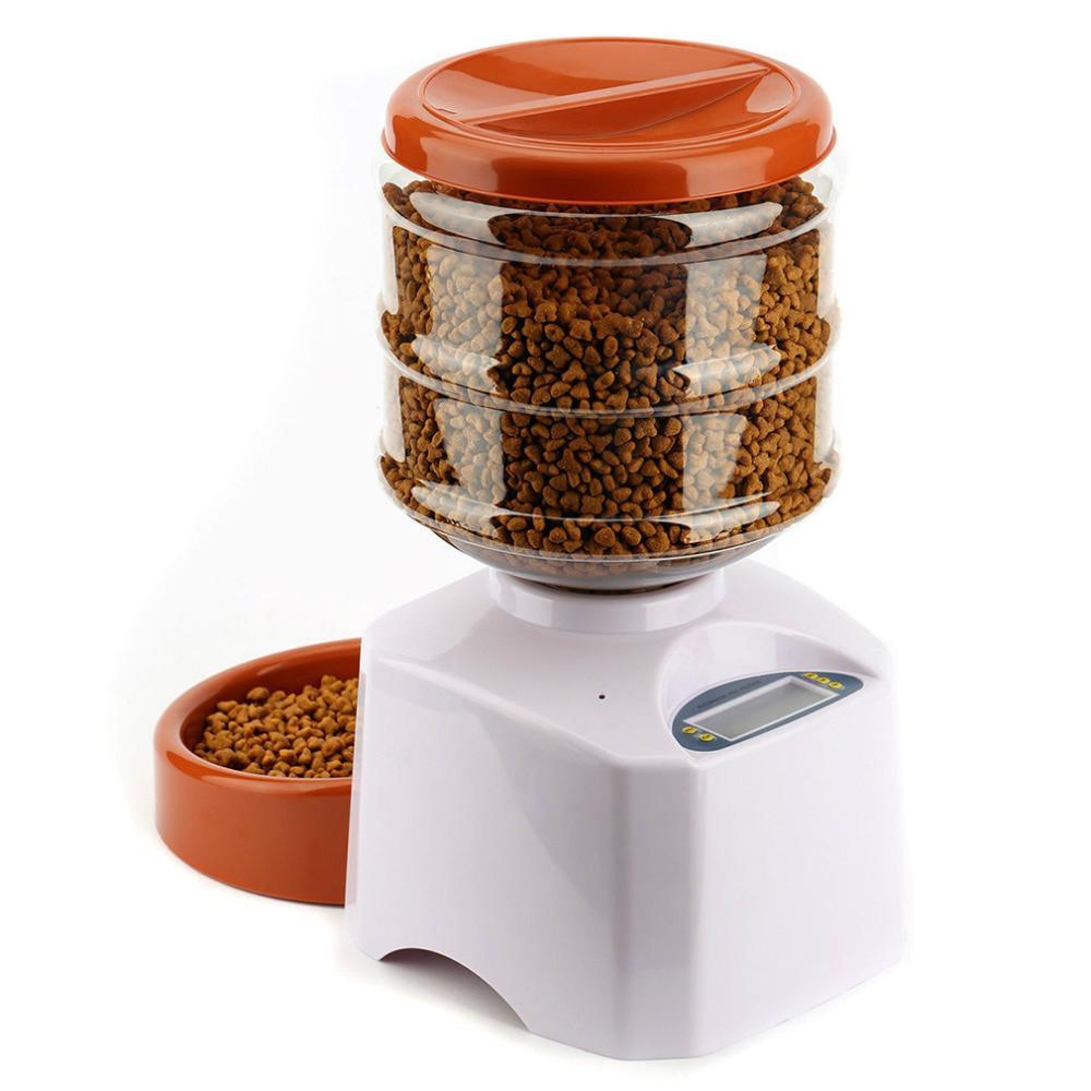 Automatic Pet Dog Feeder with LCD Control Panel
