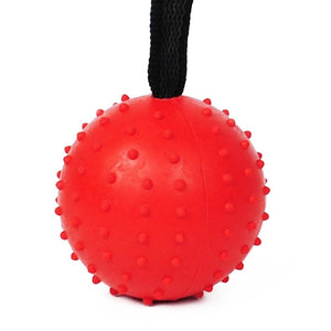 Natural Rubber Dog Toy Ball with Strap