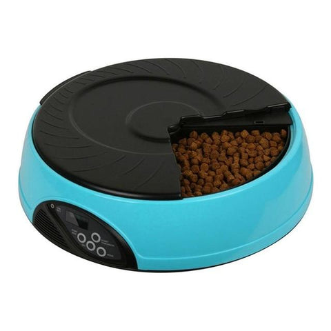 6-Meal Automatic Pet Dog Feeder With Recorder
