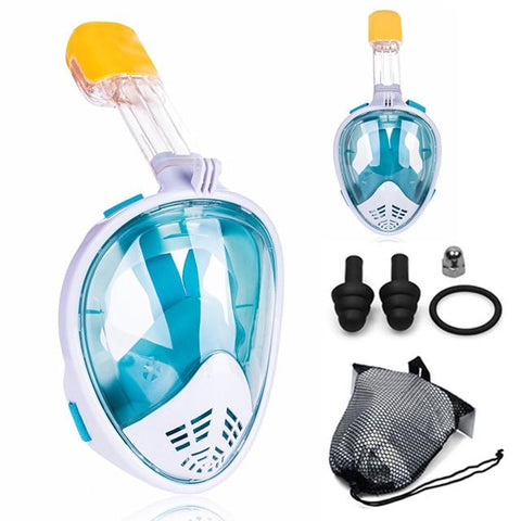 Image of 2019 New Underwater Scuba Anti Fog Full Face Diving Mask Snorkeling Set Respiratory masks Safe and waterproof Swimming Equipment