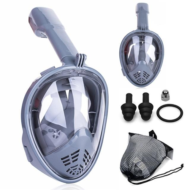 2019 New Underwater Scuba Anti Fog Full Face Diving Mask Snorkeling Set Respiratory masks Safe and waterproof Swimming Equipment
