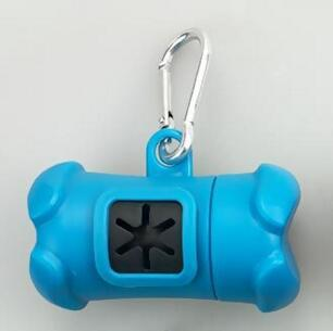 Image of Clip-On Dog Poop Bag Container With Garbage Bags