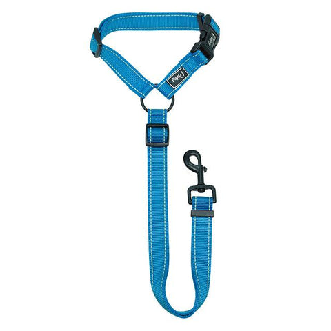 Image of Reflective Nylon Seat Belt Strap & Leash For Dogs