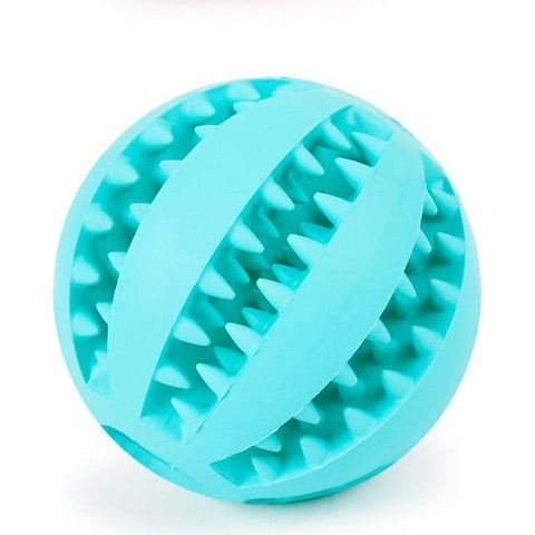 Interactive Natural Rubber Food Dispenser Ball