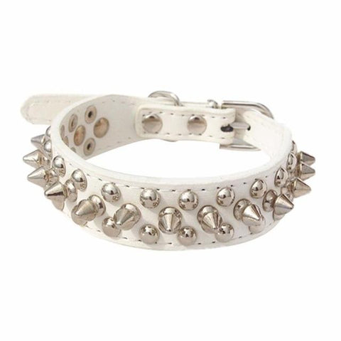 Image of Spiked Leather Dog Collar