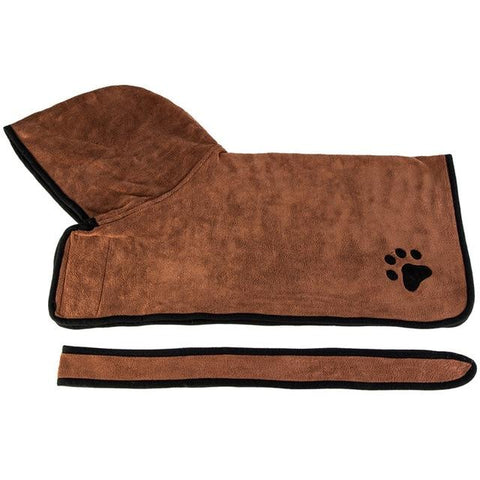Super Absorbent Pet Dog Bathrobe and Towel