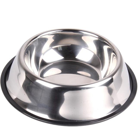 Image of Colorful Stainless Steel Pet Dog Bowl