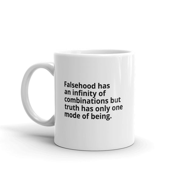 "Rousseau Quote ""Falsehood And Truth"" Philosophy Coffee Mug"