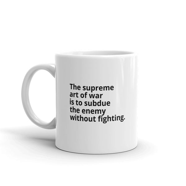"Sun Tzu Quote ""The Art of War"" Philosophy Coffee Mug"