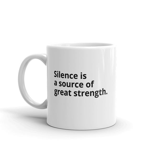 "Laozi Quote ""Silence"" Philosophy Coffee Mug"