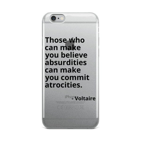 "Voltaire Quote ""Those Who Can Make"" Philosophy iPhone Case"