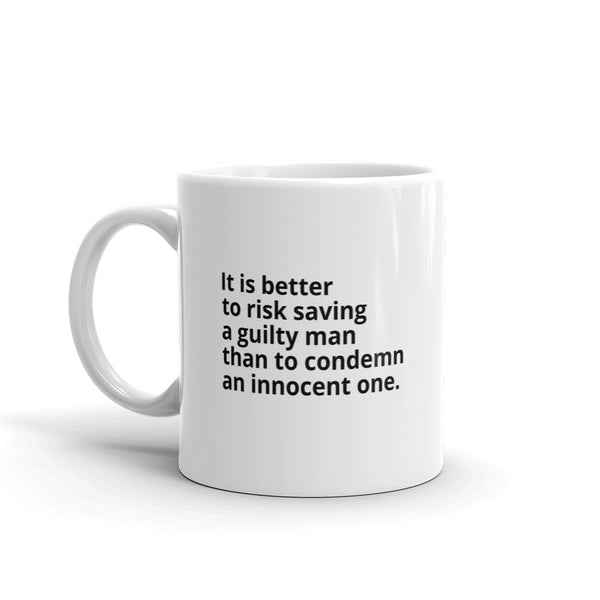 "Voltaire Quote ""Better To Risk"" Philosophy Coffee Mug"