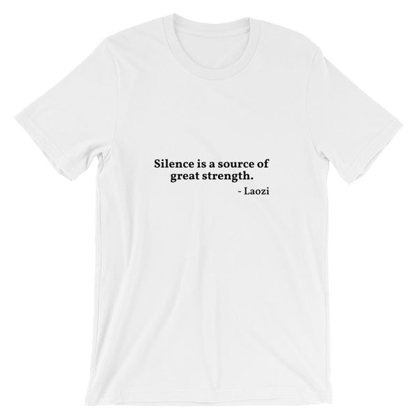 "Laozi Quote ""Silence"" Philosophy Short-Sleeve Unisex T-Shirt"