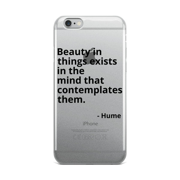 "John Hume Quotes ""Beauty"" Philosophy iPhone Case"