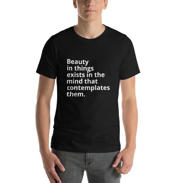"John Hume Quote ""Beauty"" Philosophy Short-Sleeve Unisex T-Shirt"
