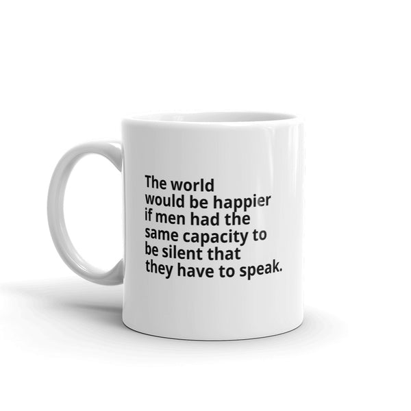 "Spinoza Quote ""A Happier World"" Philosophy Coffee Mug"