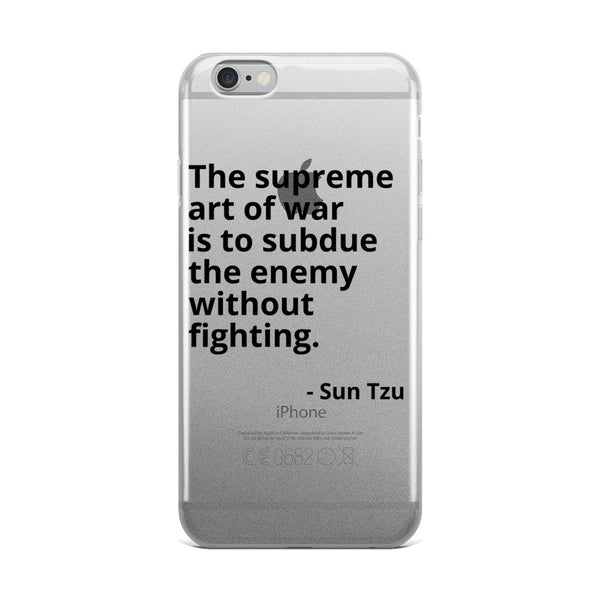 "Sun Tzu Quote ""The Art of War"" Philosophy iPhone Case"