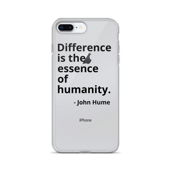"John Hume Quote ""Essence of Humanity"" iPhone Case"