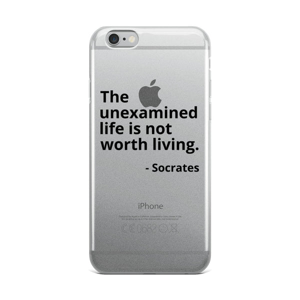 "Socrates Quote ""The Unexamined Life"" Philosophy iPhone Case"