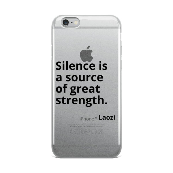 "Laozi Quote ""Silence"" Philosophy iPhone Case"