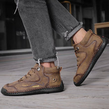 Load image into Gallery viewer, Autumn/winter new men's England wild trend handmade breathable warm casual boots