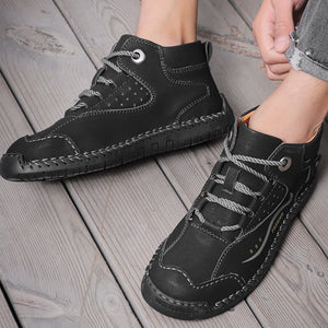 Autumn/winter new men's England wild trend handmade breathable warm casual boots