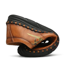 Load image into Gallery viewer, Men Hand Stitching Leather Non Slip Soft Sole Outdoor Casual Shoes