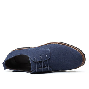 Men Pure Color British Style Non Slip Casual Leather Shoes