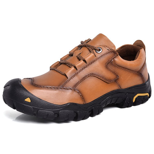 Men Cow Leather Anti-collision Wear-resistant Outdoor Casual Shoes