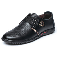 Load image into Gallery viewer, Men Lace Up  Flat Casual Leather Shoes